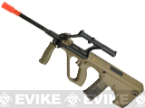 Evike.com Exclusive ASG Licensed Steyr AUG Military A1 Airsoft AEG Rifle integrated Scope (Color: Tan)