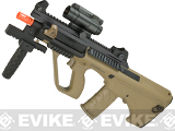 ASG Proline Licensed Steyr AUG A3 XS Commando Airsoft AEG Rifle (Color: Tan)