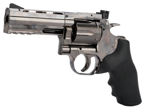 ASG Dan Wesson 715 CO2 Powered 4.5mm Airgun Revolver (Color: Silver / 4 / BB Gun)