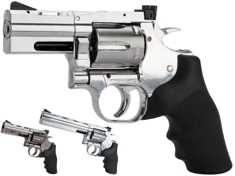 ASG Dan Wesson 715 CO2 Powered 4.5mm Airgun Revolver (Color: Silver / 2.5 Snub Nose / BB Gun)