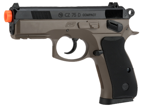 ASG Ceska Zbrojovka CZ75D Compact High Grade Full Size Airsoft Spring Pistol (Color: Flat Dark Earth)