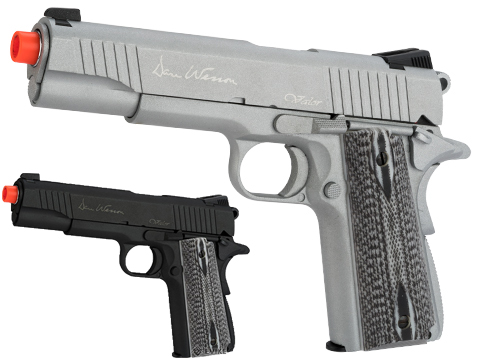 Dan Wesson Licensed Full Metal 1911 Evike Exclusive VALOR Custom CO2 Powered Airsoft Gas Blowback Pistol (Color: Black)