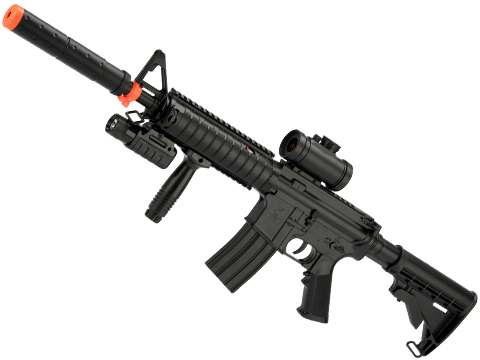DE M83B2 Full Size M4 Airsoft Low Power Airsoft AEG Electric Rifle Package (Style: RIS Carbine)