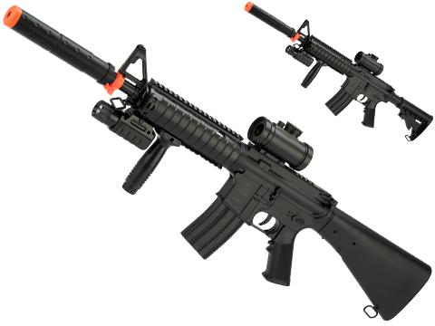 DE M83B2 Full Size M4 Airsoft Low Power Airsoft AEG Electric Rifle Package