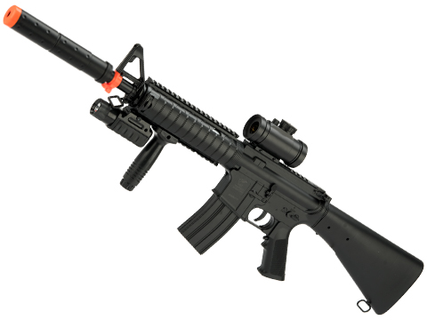 DE M83B2 Full Size M4 Airsoft Low Power Airsoft AEG Electric Rifle Package (Style: SR-16)