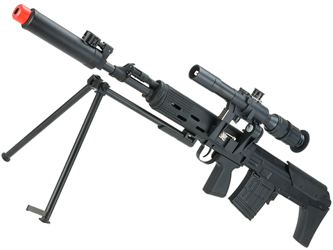 CYMA Standard SVU Airsoft Bullpup Sniper Rifle AEG with Integrated Bipod