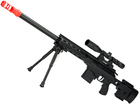 5899 Spring Powered Airsoft Sniper Rifle with Mock Scope and Bipod