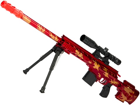 5899-1 Red Dragon Spring Powered Airsoft Sniper Rifle with Mock Scope and Bipod
