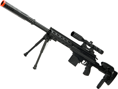 M6688 Spring Powered Airsoft Sniper Rifle with Mock Scope and Bipod