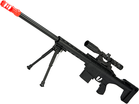 912A Red Dragon Spring Powered Airsoft Sniper Rifle with Mock Sight and Bipod