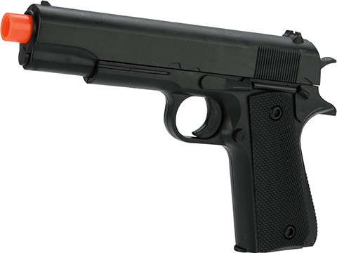 Spring Powered 1911 Government Style Pistol with Detachable 12 RD Magazine (Limit One Per Order)