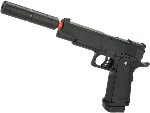 JG Polymer 1911 Hi-CAPA Full Size Airsoft Spring Pistol with Barrel Extension