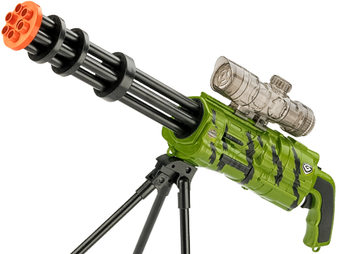 ASP Max Power Gel Ball Blaster Fully Automatic Mini-Gun (Color: Zombie Green)