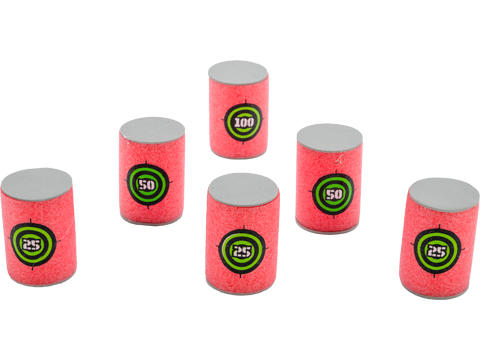Foam Blaster Reusable 1.5 x 2.25 Foam Can Target (Qty: Pack of 6)