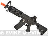 APS Full Metal M4 RIS CQB Non-Blowback Standard Airsoft AEG Rifle (Hybrid Gearbox)
