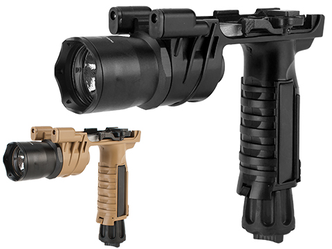 Avengers M900 Tactical Illuminator Vertical Grip w/ Xenon Grip Light for Airsoft (Color: Black)