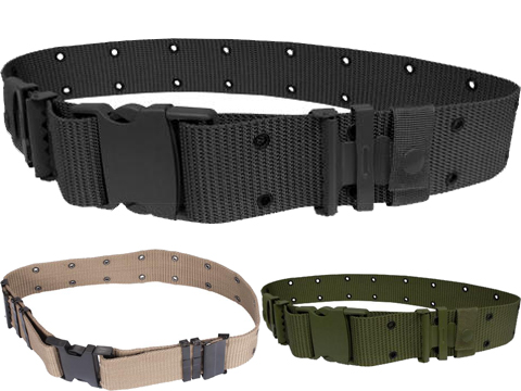 Military Style Alice Sys. Quick Release Tactical Pistol Belt (Color: Black)