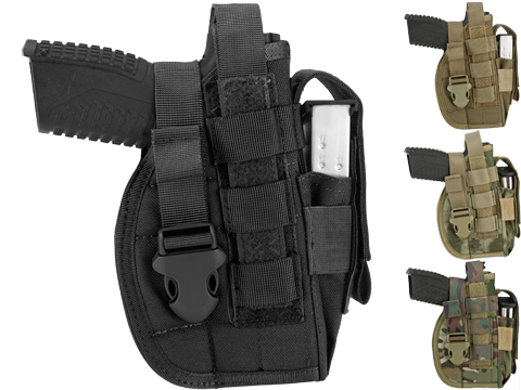 Avengers MOLLE Tactical Pistol Holster (Color: Black)