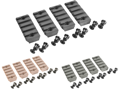 Avengers KeyMod 2.25 5 Section Polymer Rail Set - Set of 4 (Color: Black)