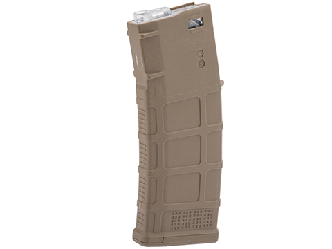 Avengers Polymer Magazine for M4/M16 Series Airsoft AEG Rifles (Color: Tan / 150rd Mid-Cap)