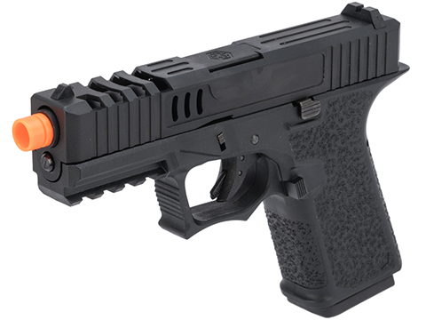 AW Custom VX9 Compact Series Gas Blowback Airsoft Pistol (Model: X80 / Black)