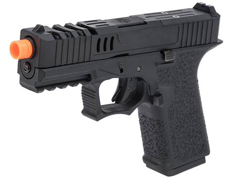 AW Custom VX9 Compact Series Gas Blowback Airsoft Pistol (Model: X80 - Optic Ready / Black)