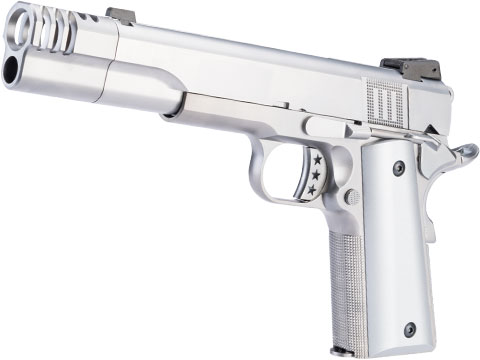 AW Custom NE31 Hitman Series 1911 Gas Blowback Pistol w/ Muzzle Compensator (Color: Silver)