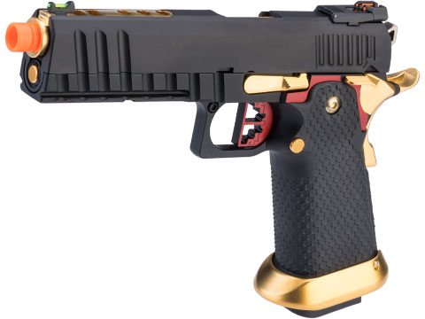 AW Custom Competitor Hi-CAPA Gas Blowback Airsoft Pistol (Package: Black & Gold / Gun Only / Green Gas)