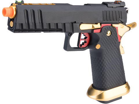 AW Custom Full Auto Ace Competitor Hi-CAPA Gas Blowback Airsoft Pistol (Package: Red / Gun Only / Green Gas)