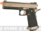 AW Custom Split Frame Hi-Capa Competition Grade Gas Blowback Airsoft Pistol (Color: Flat Dark Earth Slide)