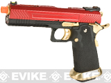AW Custom Hi-Capa Competition Grade Gas Blowback Airsoft Pistol (Color: Red / Gold)
