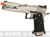 Armorer Works Custom AW-HX2201 Gold Standard IPSC Gas Blowback Airsoft Pistol - Silver