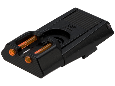 AW Custom HX Adjustable Rear Sight with Fiber Optic Inserts