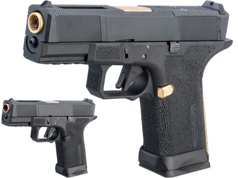 EMG SAI BLU w/ EMG Tier One Utility RMR-Cut Slide GBB Airsoft Pistol (Color: Gold)
