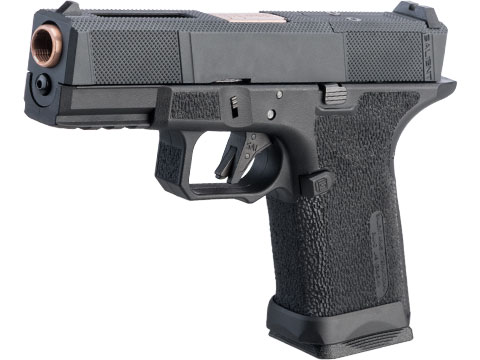 EMG SAI BLU Compact w/ EMG Tier One Utility RMR-Cut Slide GBB Airsoft Pistol (Color: Rose Gold)