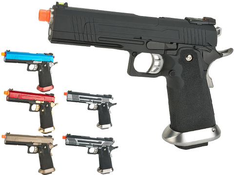 AW Custom Split Frame Hi-Capa Competition Grade Gas Blowback Airsoft Pistol (Color: Black)