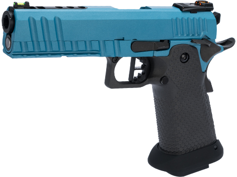AW Custom Black Ace Hi-Capa Gas Blowback Airsoft Pistol w/ Black Sheep Arms Custom Cerakote (Color: Metallic Blue)