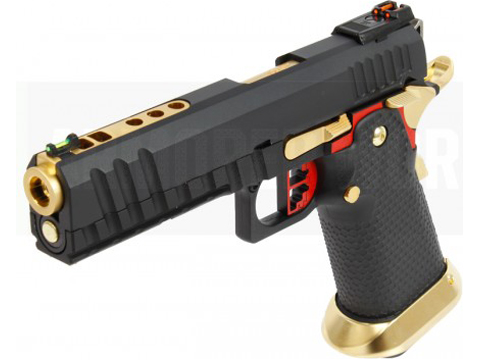 AW Custom HX1101 Full Metal Blowback 4.5mm CO2 Powered Airgun (Color: Black / Red)