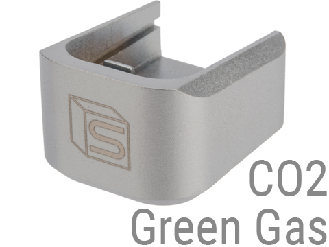 EMG / Salient Arms International 2011 Base Plate for Hi-Capa Series Airsoft Gas Magazines (Color: Black / Green Gas)