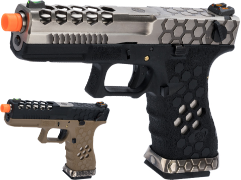 AW Custom VX0200 Series Hex-Cut Full Auto Capable Gas Blowback Airsoft Pistol