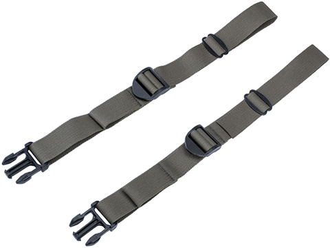 AXL Advanced Forward Adjust 1 Side Strap Set w/ Side Release Buckle (Color: Ranger Green)