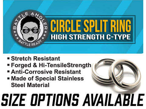 Battle Angler Steel Circle Split Ring Pack of 20 pcs (Size: 12mm / 143 LBS)