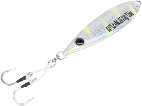 Battle Angler Phantom-Fall Jigging Lure Fishing Jig (Model: 200g Silver Glow)