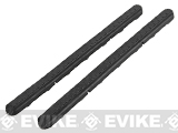 BOLT Airsoft KeyMod Scale 7 Rail Rubberized Panel Set - Black