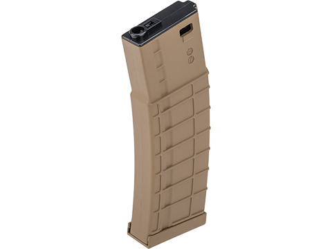 Avengers Ribbed Polymer Extended Magazine for M4/M16 Series Airsoft AEG Rifles (Color: Tan / 140rd Mid-Cap)