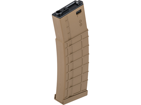 Avengers Ribbed Polymer Extended Magazine for M4/M16 Series Airsoft AEG Rifles (Color: Tan / 450rd High-Cap)
