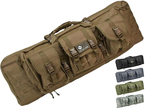 Combat Featured 36 Ultimate Dual Weapon Case Rifle Bag (Color: Desert)