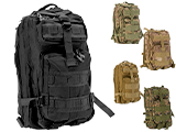 Avengers Lightweight MOLLE Patrol Pack (Color: Black)