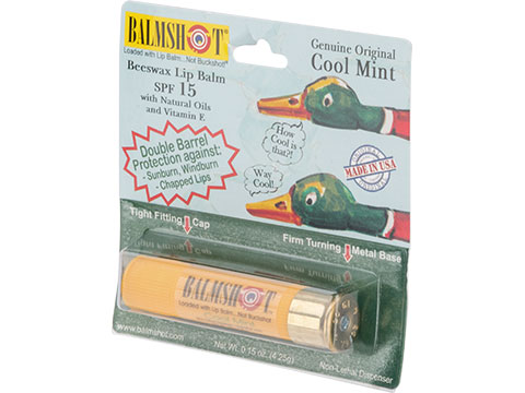 Balmshot Natural Beeswax Lip Balm w/ Natural Oils and Vitamin E (Flavor: Cool Mint)