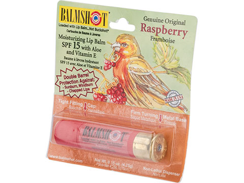 Balmshot Natural Beeswax Lip Balm w/ Natural Oils and Vitamin E (Flavor: Raspberry)